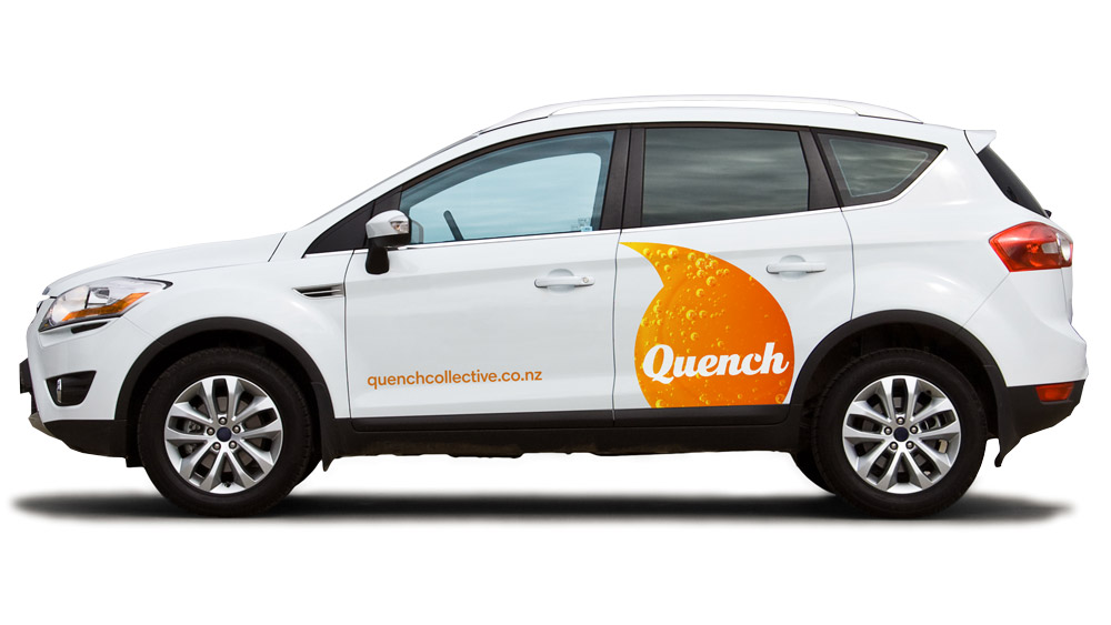 Quench vehicle branding