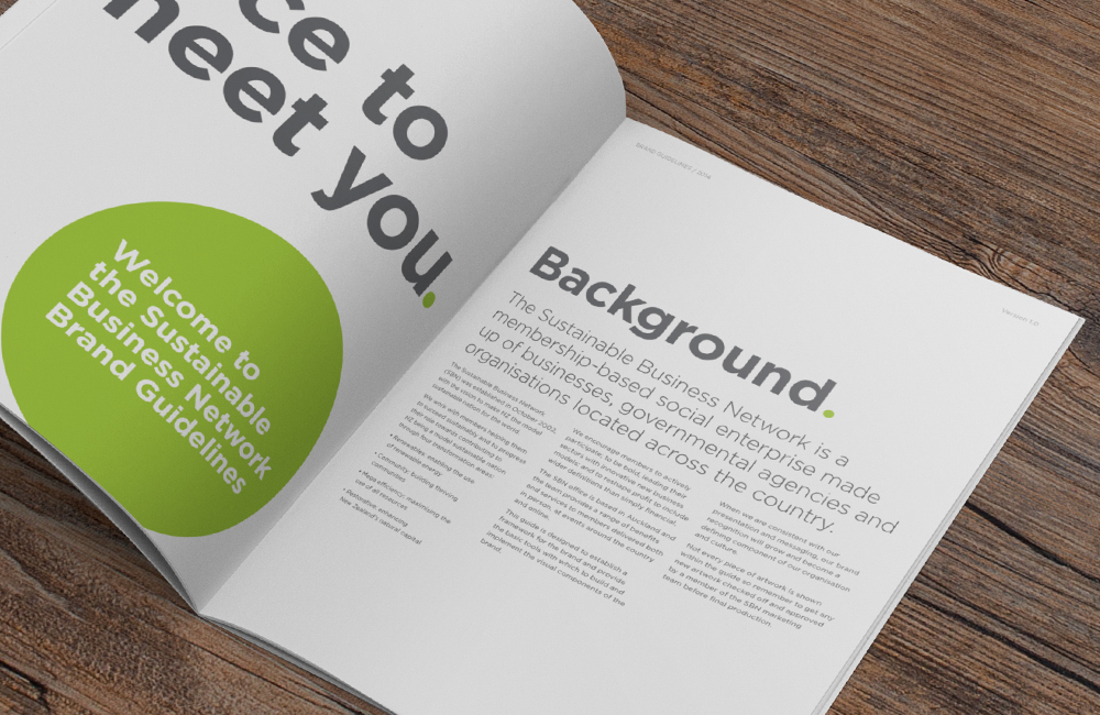 Brand guidelines greeting style page