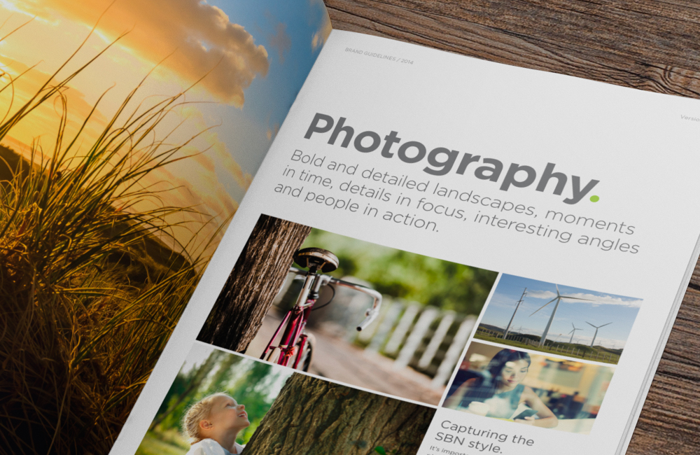 Brand guidelines photography style page